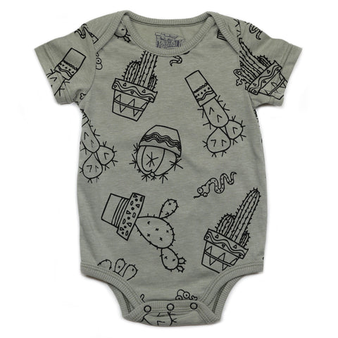 Kapital K Cactus S/S Heathered Jersey Bodysuit - Basically Bows & Bowties