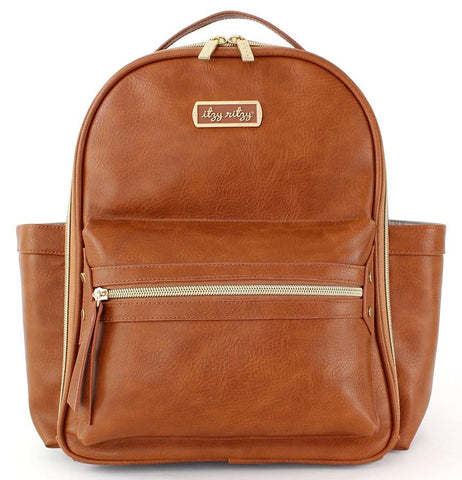 Itzy Ritzy Cognac Mini Backpack
