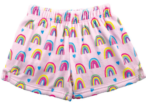 Iscream Rainbows and Hearts Plush Shorts