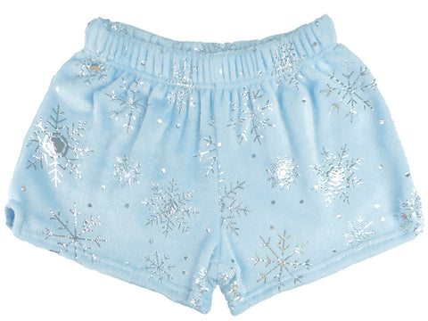 Iscream Silver Foil Snowflakes Plush Shorts