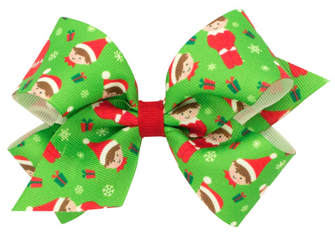 Wee Ones Large Elf Hair Bow on Clippie