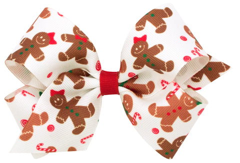 Wee Ones Large Gingerbread Hair Bow on Clippie