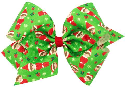 X-Large Elf Hair Bow on Clippie