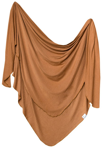 Copper Pearl Camel Knit Swaddle Blanket Basically Bows & Bowties