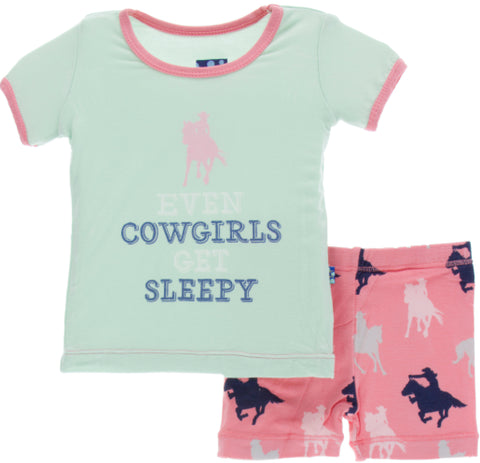 KicKee Pants Strawberry Cowgirl S/S Pajama Set with Shorts