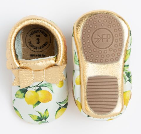 Freshly Picked Lemonade Bow Mocc Mini Sole
