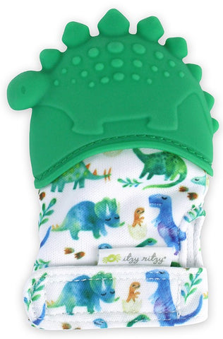 Itzy Ritzy Dinosaur Teething Mitt Basically Bows & Bowties