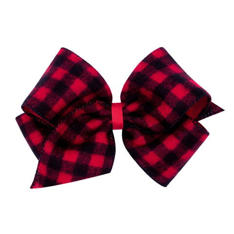 Wee Ones King Buffalo Check Overlay Bow