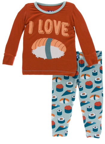 KicKee Pants Jade Sushi Long Sleeve Pajama Set