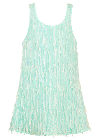 Hannah Banana Mint A-Line Dressy Tank Dress