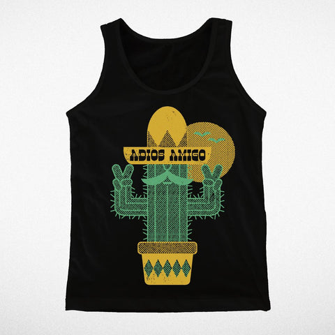 Tiny Whales Adios Amigo Black Tank Top