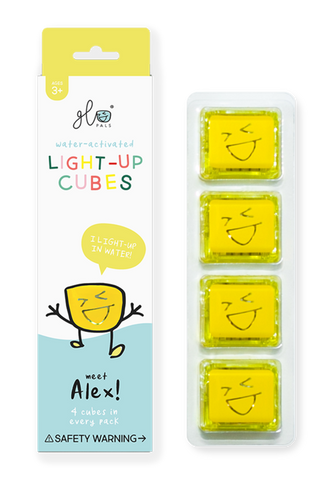 Alex - Yellow Light Up Cubes