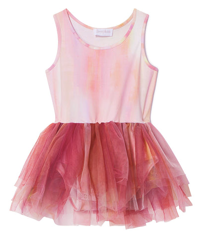 iloveplum Poppy Orange B.A.E. Watercolor Tutu Dress