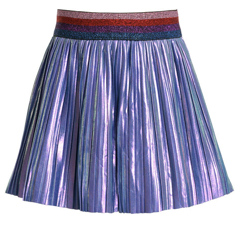 Baby Sara Iridescent Pleated Skirt