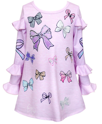 Baby Sara Lavender Ruffled Bow Dress Basically Bows & Bowties