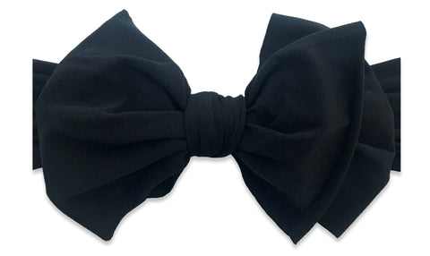 Baby Bling Black BAB Headband Basically Bows & Bowties