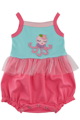 Lemon Loves Layette Twirly Octopus Bubble Romper