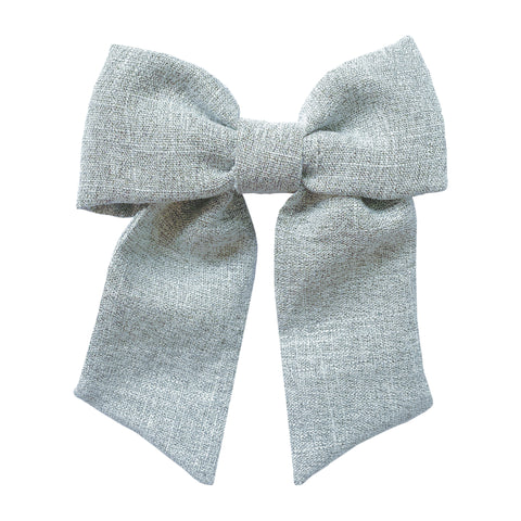 Baby Bling Grey Tweed Big Solo Bow
