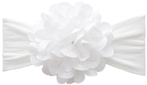 Baby Bling Eyelet Flower Headband ( 4 colors) - Basically Bows & Bowties