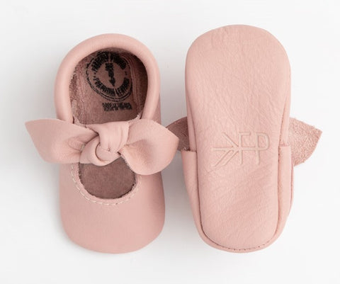 Freshly Picked Blush Knotted Bow Soft Sole Moccasins
