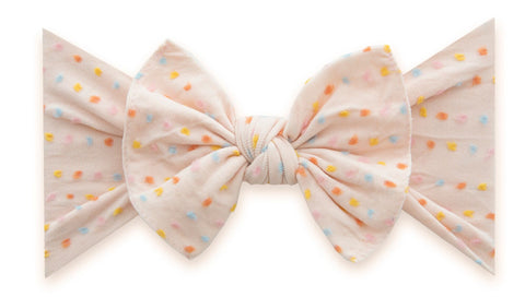 Baby Bling Petal Rainbow Dot LE Shabby Patterned Knot headband