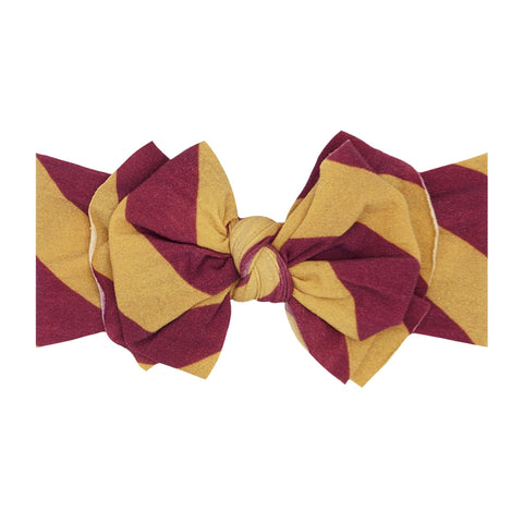 Baby Bling Burgundy / Gold Printed FAB-BOW-LOUS