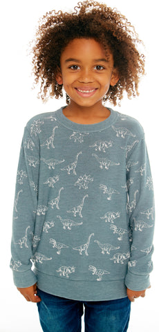 Chaser Dino Dance Cozy Knit Pullover Basically Bows & Bowties