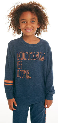 Chaser Football Life Cozy Knit Pullover Basically Bows & Bowties