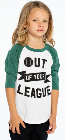 Chaser Out of Your League Raglan Baseball Tee