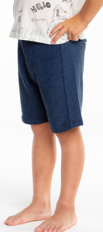 Chaser Boys Cozy Knit Rib Panel Shorts - Avalon