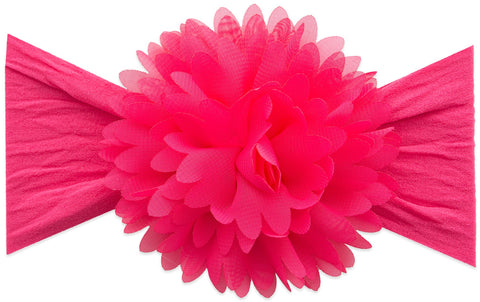Baby Bling Hot Pink Chiffon Carnation Flower