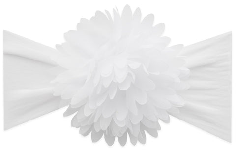 Baby Bling White Chiffon Carnation Flower