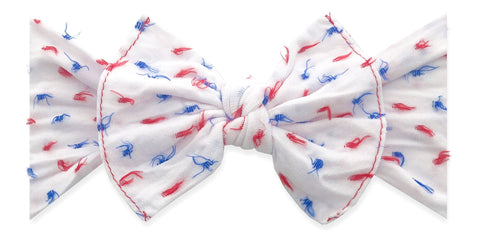 Baby Bling USA Clipped Dot Patterned Knot Headband