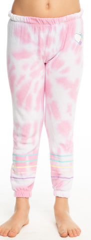 Chaser Tie Dye Heart Cozy Knit Sweatpants Basically Bows & Bowties