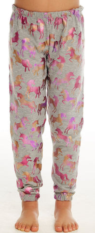 Chaser Rainbow Unicorn Cozy Knit Pants Basically Bows & Bowties