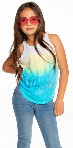 Chaser Recycled Vintage Jersey Scoop Back Shirttail Tank