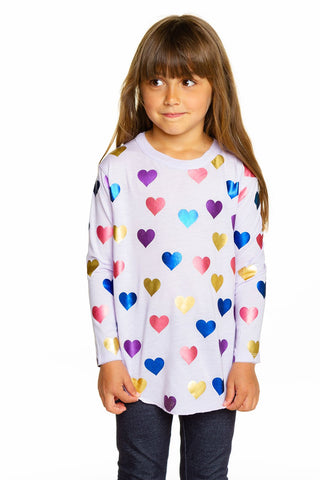Chaser Shiny Hearts L/S Shirttail Tee
