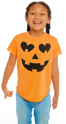 Chaser Pumpkin Face Vintage Jersey Short Sleeve Tee Basically Bows & Bowties