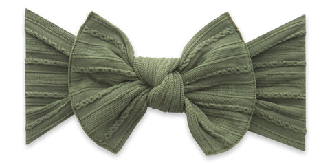 Baby Bling Army Cable Knit Knot Headband Basically Bows & Bowties