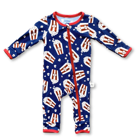 Kozi & Co Popcorn Coverall with Zipper