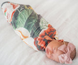 Copper Pearl Raven Knit Swaddle Blanket