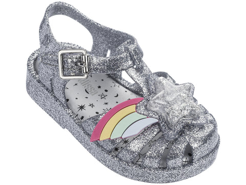 Mini Melissa Possession II-Siver Glass Glitter