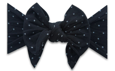 Baby Bling Black Dot DEB Headband Basically Bows & Bowties
