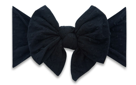 Baby Bling Black on Black Shabby Dot DEB Headband Basically Bows & Bowties