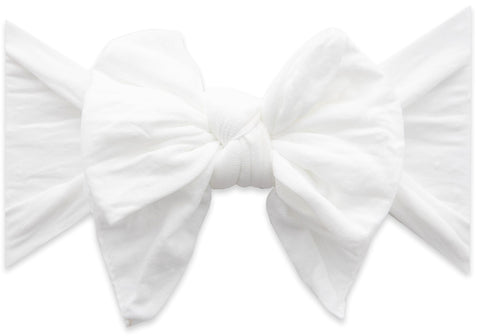Baby Bling White Dot DEB Bow