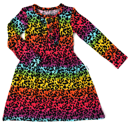 Gigi and Max Lisa Rainbow Leopard Tutu Dress