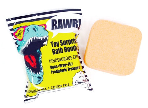 Feeling Smitten Dinosaurous Citrus Surprise Bath Bomb Bags Basically Bows & Bowties