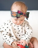 Baby Bling Veggie Floral Printed Knot Headband