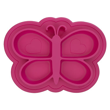 Kushies Siliplate - Candy Pink Butterfly