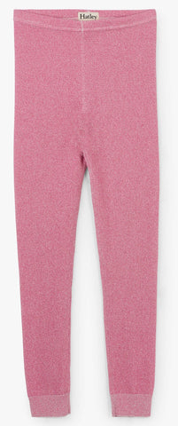 Hatley Rose Glimmer Cable Knit Leggings Basically Bows & Bowties
